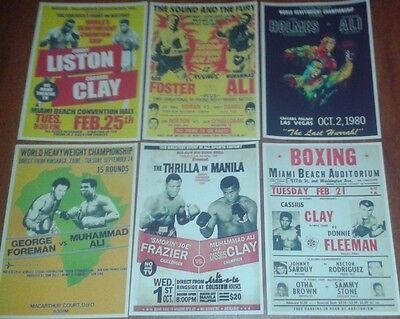 Muhammad Ali Fight / Boxing Pictures. Mini Posters. Set Of 6. Boxing.