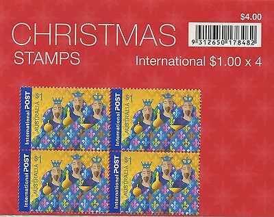 AUSTRALIA 2004 CHRISTMAS STAMPS 2X BLOCK OF (4) AND 50c PAIR MNH