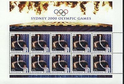 "Australia 2000 Opening Ceremony,olympic Games Sydney""cathy Freeman"" Sheet Mnh"