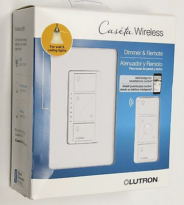NEW  Lutron Caseta Wireless  In-Wall Light Dimmer w/ Pico Remote
