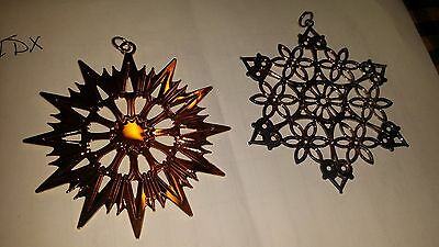 2 MMA Metropolitan Museum Art STAR ORNAMENT gold and silver