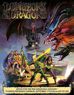 Dungeons and Dragons Animated Series TV Promo POSTER 1983 D&D Battle Scene Only!