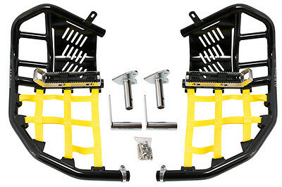 Suzuki LTZ 400  Nerf Bars  Pro Peg 09 and up Alba Racing  black bars yellow nets