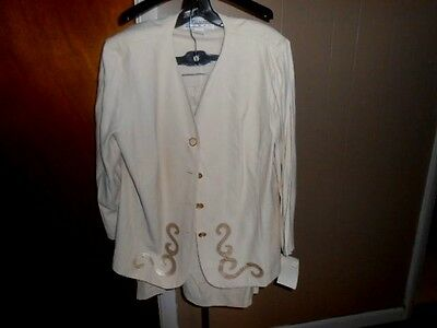 Jessica Howard Plus Sz. 18 Mother of The Bride/Formal Beige Suit NWT