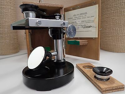 Portable Vintage Olympus Microscope in timber box FREE POSTAGE
