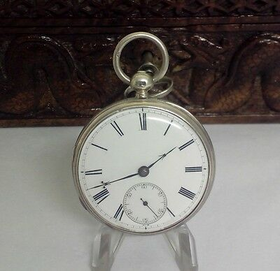 Antique Solid Silver  Jewelled Fusee Pocket Watch London  1877 Fwo