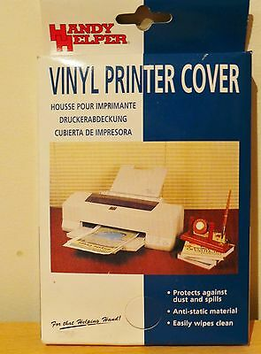 Vinyl Printer Or Scanner Cover, Clear Dust Protector
