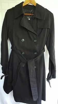 Maternity Trench Coat Black Size XS (8)