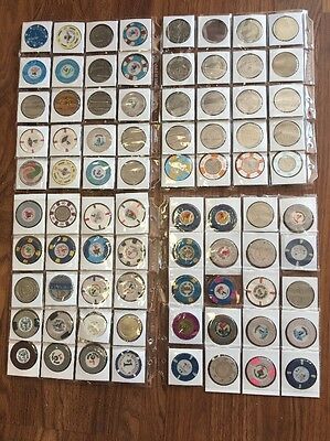 LOT OF 80 CASINO CHIPS AC Vegas Great Deal 1980s Rare 1000 Chip