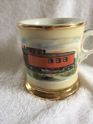 Train Caboose Railroad Advertising Occupational Shaving Mug Porcelain 1212