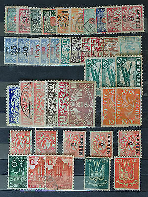 Germany, Flugpost, Danzig Stamps Lot