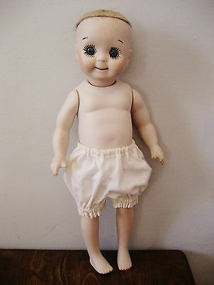 Darling GOOGLY EYE reproduction DOLL  all porcelain no wig no dress 1984?