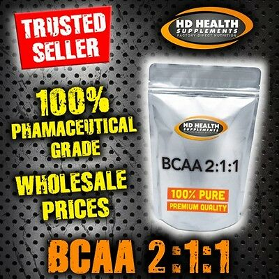 PURE BCAA 2:1:1 POWDER INSTANTISED 500g Premium Quality Branch Chain Amino Acid