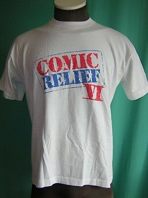 S4927 vintage t-shirt Comic Relief VI XL Billy Crystal Whoopi Robin Williams 90s