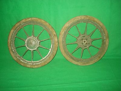 Vintage 2 Baby Carriage Buggy Doll Stroller Wheels