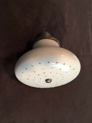 Antique Porcelain Shower Head, Large with Nickel Fitting