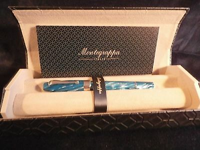 Montegrappa Classica 1912 Turquoise Celluloid & Sterling Fountain Pen:  Sublime!