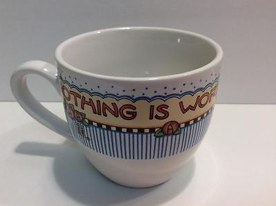 MARY ENGELBREIT Coffee Tea Cup Nothing Is Worth More Than This Day Replacement