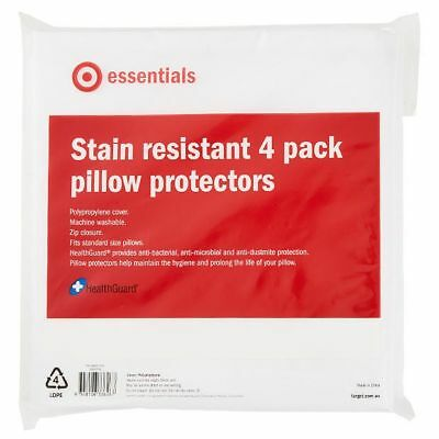 NEW Pillow Protectors 4 Pack Stain Resistant Bedding Pillow Cases