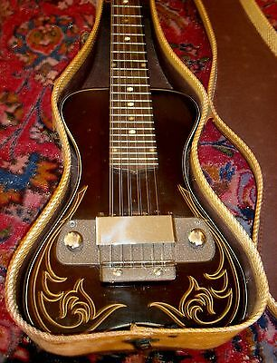 Rare Old Antique Vintage Oahu Electric Lap Steel Guitar 1940's Ohsc Orig Paint