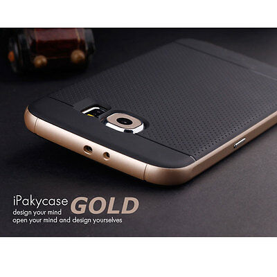 Hybrid Hard Bumper Shockproof Case Cover For Samsung Galaxy S6 Edge Plus Gold