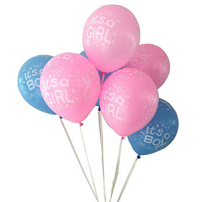 10pcs It's a Boy and It's a Girl Latex Balloons for Baby Shower Party Decoration