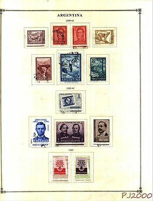 ARGENTINA 1959-1963 Lot of 130 STAMPS Collection on Scott Album Pages