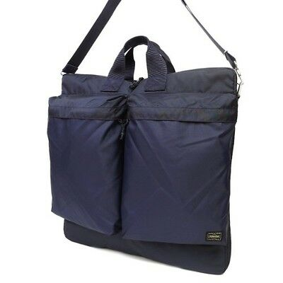 830e18d97d NEW YOSHIDA PORTER FORCE 2WAY HELMET BAG 855-07414 Navy With tracking From  Japan