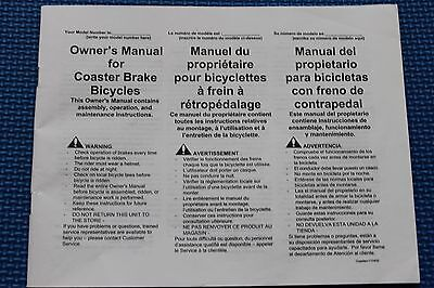 Bicycle Coaster User Guide Manual  English French Spanish