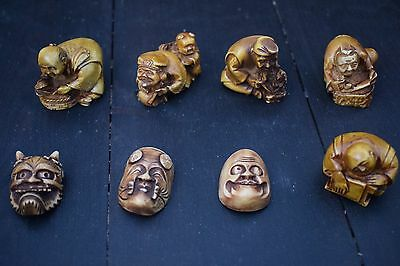 Japanese carved figures joblot