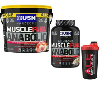 USN Muscle Fuel Anabolic Protein Powder Lean Gainer Shake All Size + Free Shaker