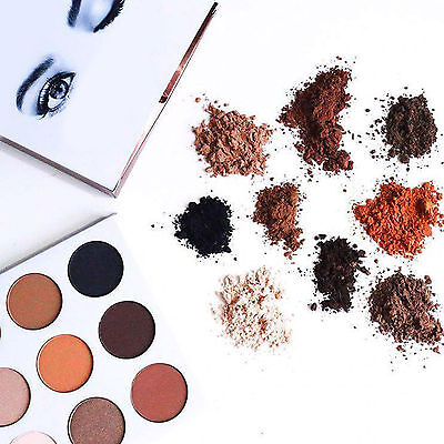 Shimmer Matte Eye Shadow Powder Burgundy Palette Cosmetic Makeup 9 Colors Set