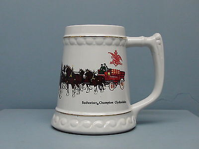 Rare Early Budweiser Clydesdale Beer Stein By Ceramarte