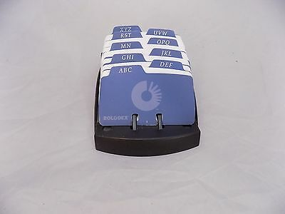 Rolodex Card File with Telephone Name Cards