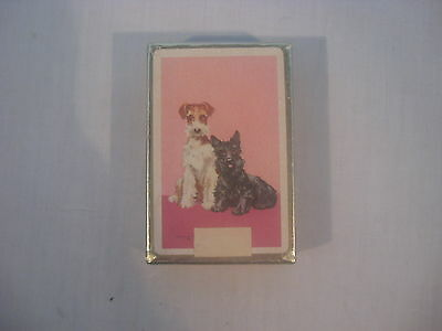 Dachshund and Scottie Dog Duratone Plastic Coated Playing Cards
