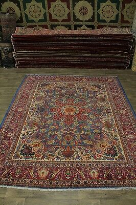 Stunning Pictorial Design Antique Kashmar Persian Area Rug Oriental Carpet 10X12