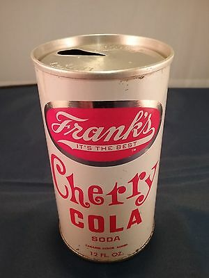 Franks's Cherry Cola Steel Pull Tab Soda Can