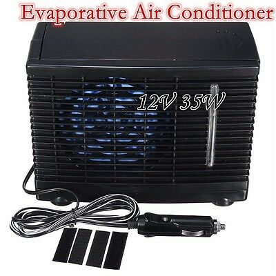12V Evaporative Air Conditioner Portable Campping Travel Cooling Fan Water Ice