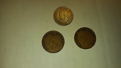 3 old canadian coins (1932 & 1948 pennies and a 1939 dime)