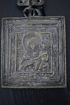 antique madonna and child icon