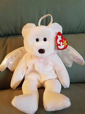 Ty BEANIE BABY BEAR HALO 1998 W/ TAGS  P.E. PELLETS WITH ERRORS