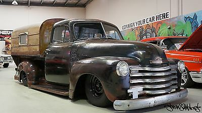 1950 Chevy 3100 modified Pick up truck 383 V8 auto, Mustang II front