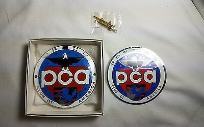 Porsche PCA Car Club of America Grill Badge Brand New Plus sticker FREE SHIPPING