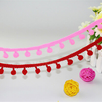 "5 Yards Pom Pom Trim Trimming Sewing Craft 12"" Width Bobble Fringe Pompom DIY"