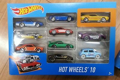 BNIB Hot Wheels Pack of 10 Cars : Hot wheels car set , Diecast vehicles