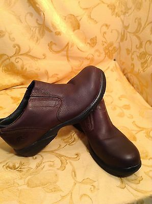 Timberland Pro Series Steel Toe Women's Work Shoes Sz 8M Brown Leather Nice
