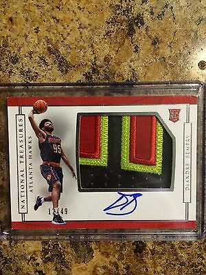 2016 -17 National Treasures DeAndre Bembry RC Patch Auto RPA /49!! Rookie Hawks