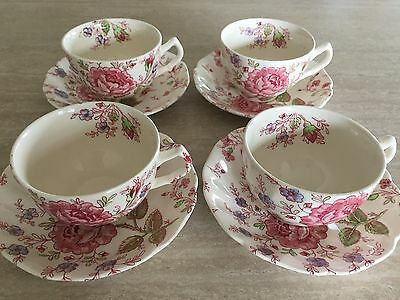Johnson Bros Rose Chintz (MADE IN ENGLAND) cup and saucer set