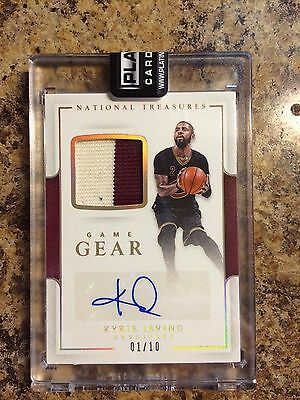 16-17 National Treasures Kyrie Irving Patch Autograph 1/10 Game Gear Cavaliers