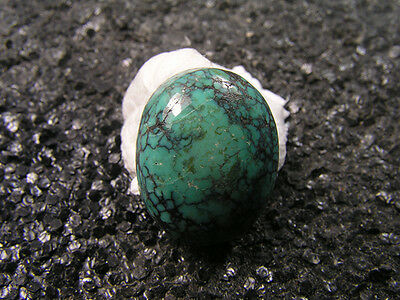 10.15ct 100% natural HuBei AAAA loose spiderweb turquoise cabochon gemstone 1585